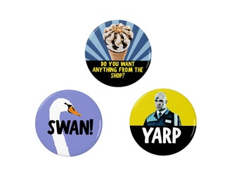 Yarp - Badge/Magnet -   Hot Fuzz British Comedy - Movies - Police - Simon Pegg - Rory McCann - Nick Frost