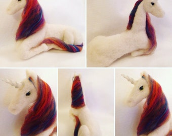 Rainbow Unicorn Ooak Soft Sculpture