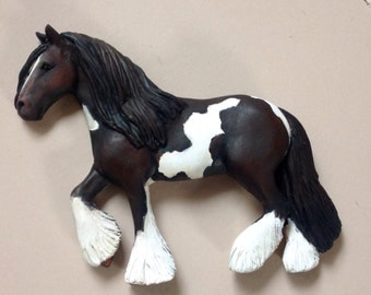 Gift for horse lover.  Three dimensional polymer clay plaque.  Custom made  from your own photographs.
