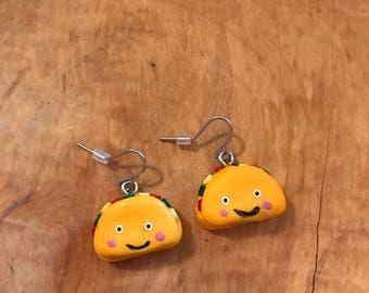 Handmade Dangle Taco Earrings