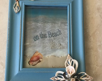 Turquoise Blue Shell Picture Frame 8 x 10