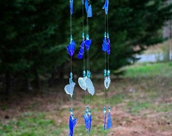 Adelle - Sea Glass Wind Chime, Sun catcher, Interior Decoration, Garden Decoration, Interior Design, Baby Nursery