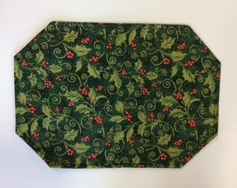 Christmas Reversible Placemats/ set of 4