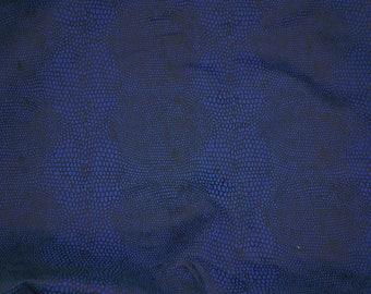 Cotton Snake Skin  Pinwale Corduroy Fabric Animal Print  Blue  By the Yard