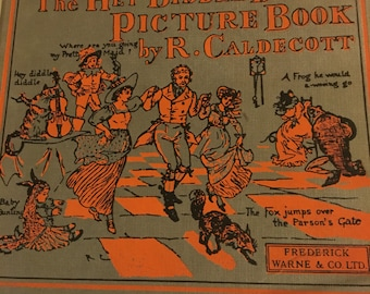 The hey diddle diddle picture book by R. caldecot , fredrick warne& co gb