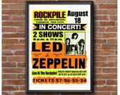 Led Zeppelin 1969 Toronto Concert Poster – Rockpile Night Club Yonge Street