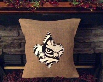 Louisiana Fleur de lis, Louisiana Fleur de lis Pillow, Tiger Eye Louisiana Fleur de lis, Tiger Eye Louisiana Fleur de lis Pillow, Louisiana