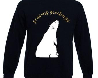 Mens Seasons Greetings Polar Bear Christmas Jumper / Sweatshirt