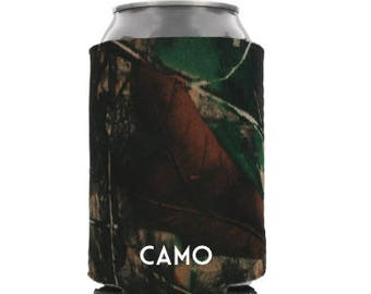 Set of 10 CAMO Can Cooler Blanks