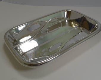Rare Antique English Silver Plated Cutlery Tray By James Dixon c.1890