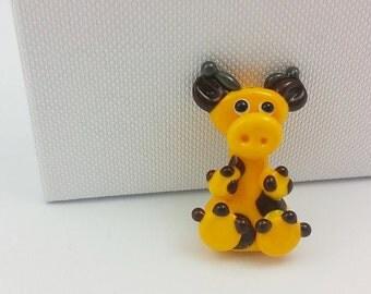 Giraffe Bead - Geraldine Giraffe - Lampwork Giraffe - Giraffe Beads - Glass Giraffe - Animal Beads - Lampwork Beads - UK Handmade - Giraffe