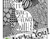 animal shelter coloring pages | CristinApril's Art by CristinApril on Etsy