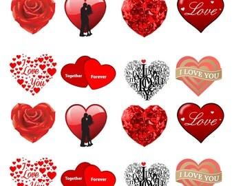 24 Stand up Love Heart Wedding Anniversary Valentines Day