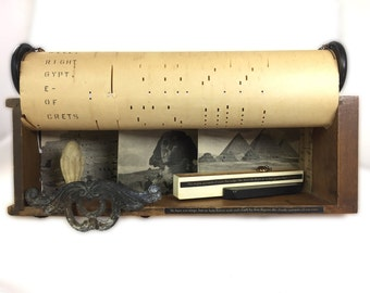 Longfellow Music Poetry Assemblage — Longfellow Egypt-themed Assemblage