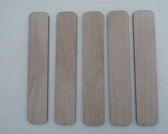 Blank Oak Bookmarks (Unfinished) For Pyography/Crafting Etc, Pack of 5, 10, 15, or 20