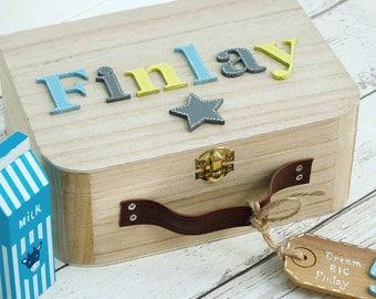 Personalised Baby Memory Box Keepsake Box Children's suitcase style Memory Box New Baby Gift Birthday Gift Personalised Memory Box