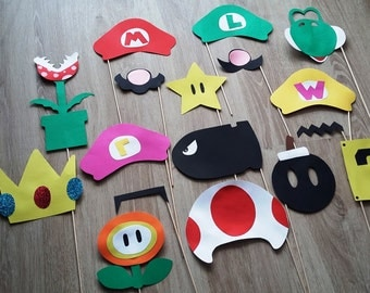 "Accessories photobooth x 17 ""mario, luigi..."" """