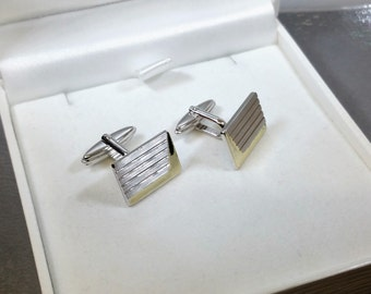 Part MS111 gold-plated Silver 925 cufflinks