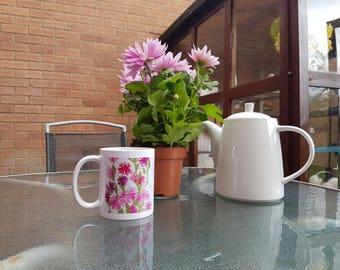 Xstitch Xcellence Fushia Pink Carnation Mug