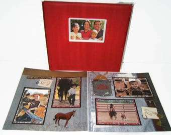 Horse Scrapbook Album - Premade Horse Scrapbook Album - Horse Photo Album - Premade Horse Photo Album - Ranch Album - Farm Scrapbook