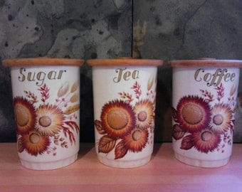 Lord Nelson Pottery - Tea, Coffee and Sugar Canisters