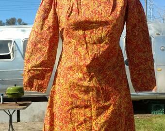 Vintage Handmade Paisley Dress