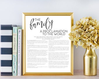LDS Family Proclamation to the World, Printable File, Digital Print file, Mormon, Family Proclamation, Proclamation on the Family, Printable