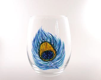 Hand Painted Wineglasses of Bluebonnets, Dragonfly, Monarch Butterfly,  RESIST, Hummingbird, Red Poppy, Elephant, Halloween and More