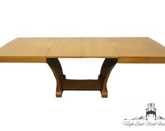 RWAY Mid Century Modern Dining Table w/ Self Storing Leaves