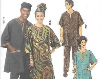 Womens/Mens Caftan Set,  Sizes XLG Thru XXXL, New Butterick Pattern 5725