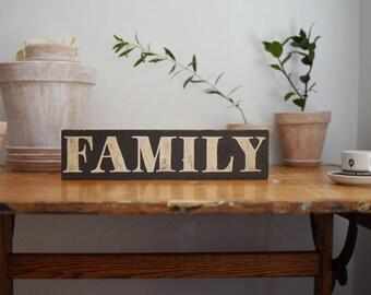 Family Farmhouse Sign // Handpainted Farmhouse Decor // Handpainted Sign