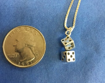 Sterling Silver Dice Pendant
