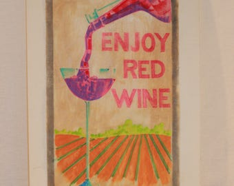Michigan Wine Art Painting