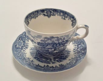 English Village, Salem China Co., Cup and Saucer