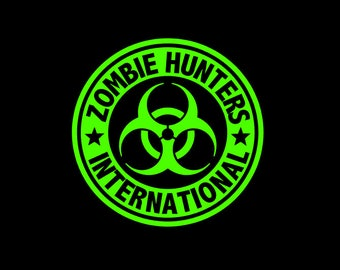 Zombie Hunters International Emblem custom cut vinyl decal for your car, phone, tumbler, cooler, whatever!