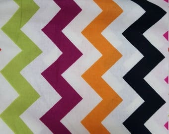 Multicolor Zig Zag Brother Sister Design Studio Chevron, Fabric by the Yard