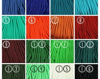 550 Paracord Type III Commercial Parachute Cord USA Made 7 Strand Nylon Inner - Various Colors