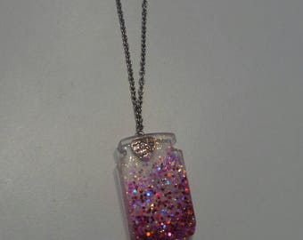 Resin necklaces with Jar of desires