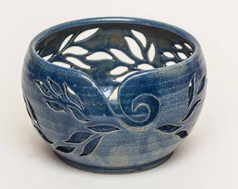 Yarn bowl, knitting bowl, ceramic bowl