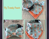 Items Similar To Teal With Feather Design Dog Collar On Etsy