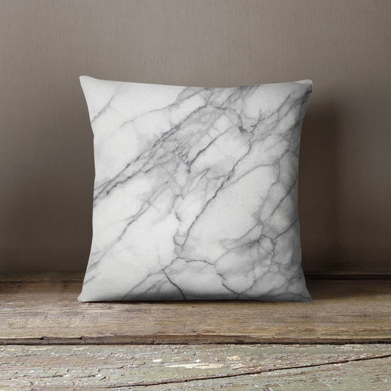 Photo Throw Pillow Gifts : Marble Decor Marble Pillow Hostess Gift by wfrancisdesign