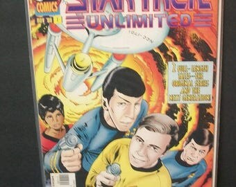 1996 Star Trek Unlimited #1 The Original Series Kirk And Spock, Next Generation Picard VF-NM Vintage Unread Direct Edition DC Comics