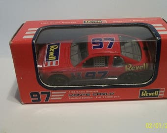 1997 Revell #97 Red Chevrolet Monte Carlo NASCAR 1/64 Scale NASCAR Diecast Car New In Box
