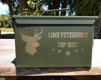 Ammo Box Groomsmen's Gifts Father of The Bride Military Wedding Best Man Gift Groom Gift Personalized Ammo Can Mens Hunting Gifts