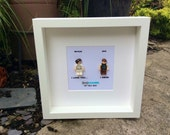 Star Wars I love you I know Princess Leia and Han Solo Lego replica  Personalised Frame Picture Engagement or Wedding Gift Valentines Day