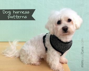 Dog Harness Pattern Size M , Sewing Pattern , Dog Clothes patterns, Dog harness