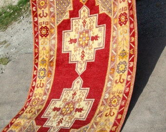 """Cr1900-1939s Antique Muted Colors 3'9""""×7'3"""" Armenian Wool Pile Rug"""