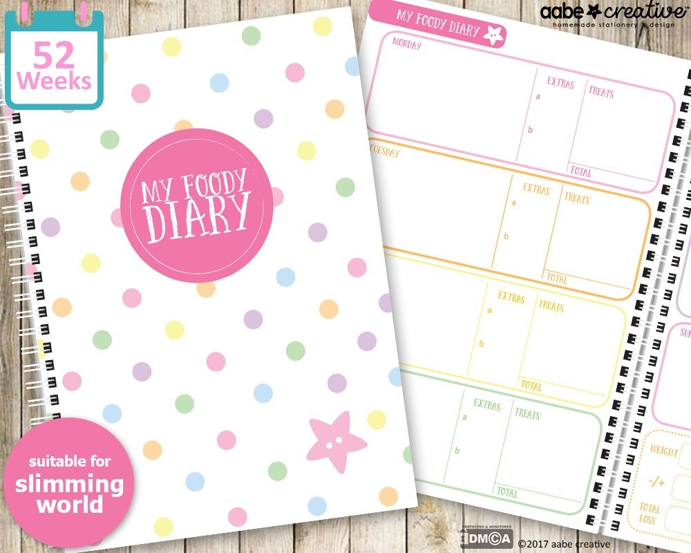 My Foody Diary Slimming World Food Diary 12 Months