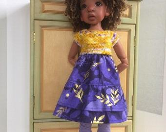 Yellow and purple dress for Kaye Wiggs MSD