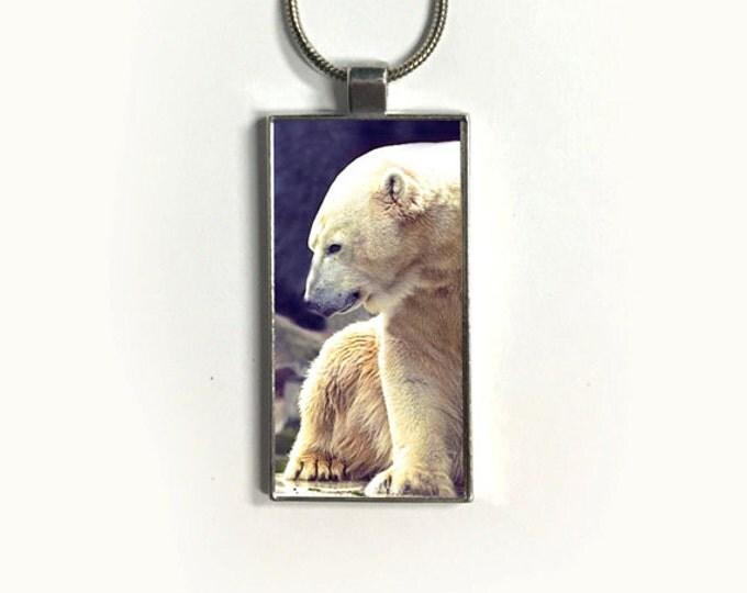 Necklace Polar Bear, Pendant, Nature, endangered species, sublimation, gift for friends